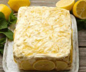 Air Fryer Sour Cream Lemon Cake