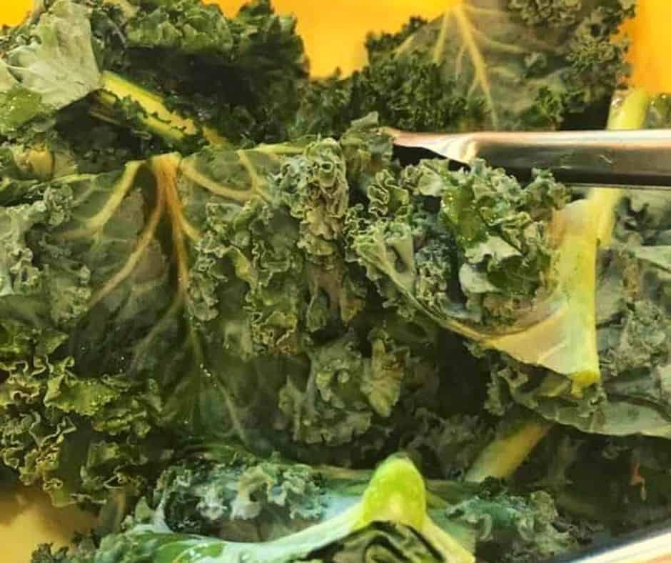 Air Fryer Parmesan Kale Chips