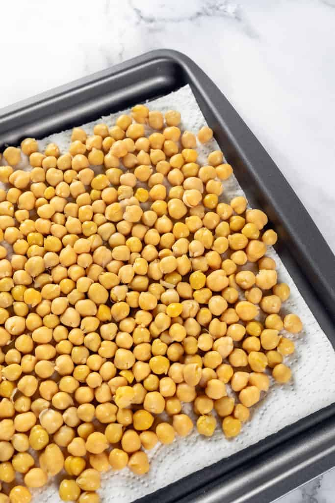 Dry Your Chickpeas-- Air Fryer Spicy Roasted Chickpeas