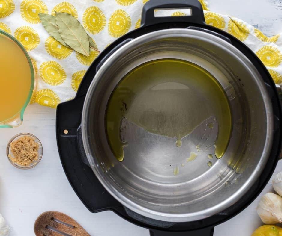 Olive Oil In Instant Pot Bowl  Instant Pot Greek Lemon Chicken Soup