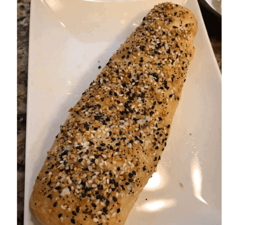 Air Fryer French Everything Bread