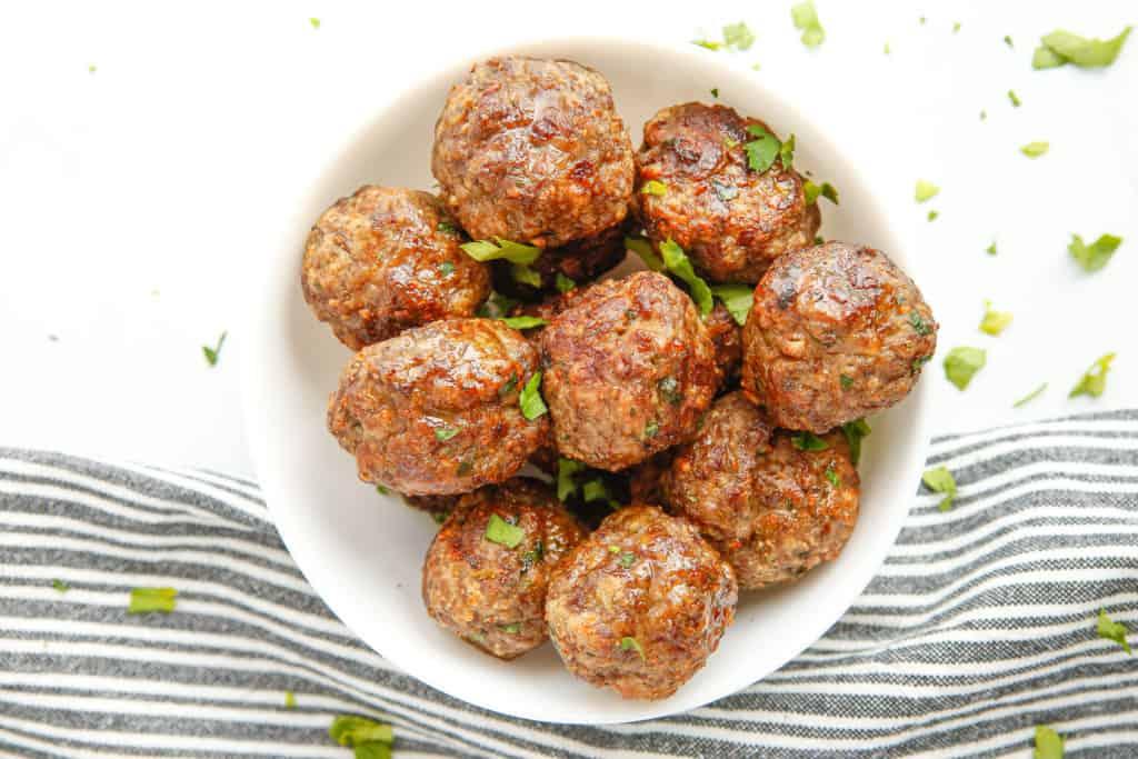 Air Fryer Beef Meatballs #beef #easy #turkey #meatballs #airfryer