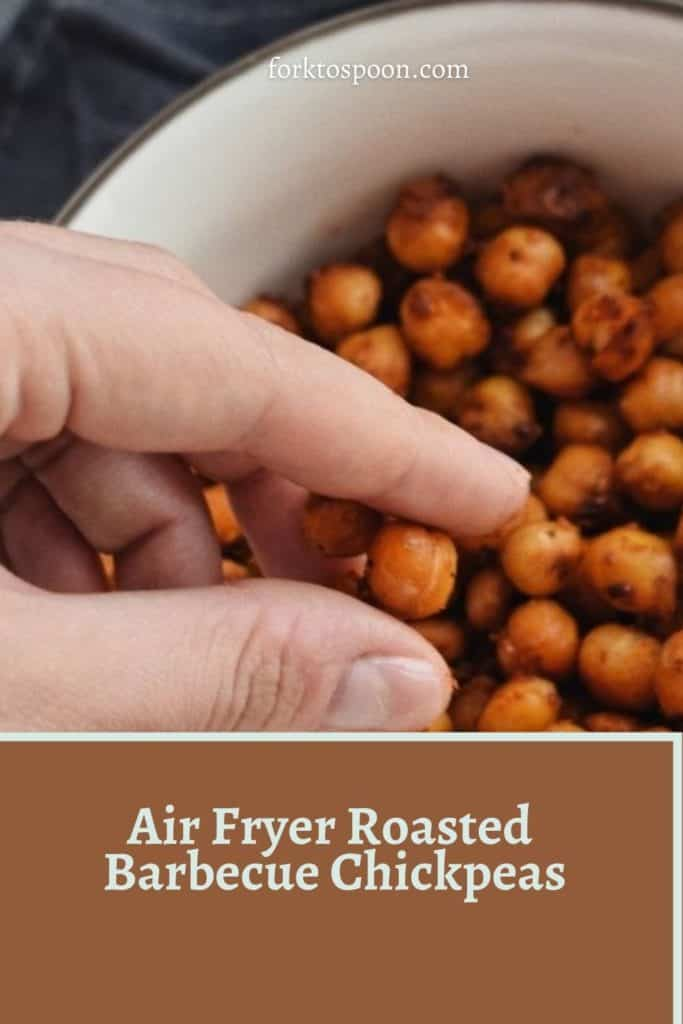 Air Fryer Roasted Barbecue Chickpeas