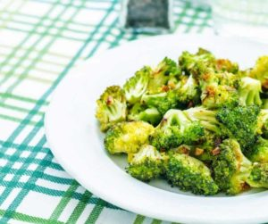 Air Fryer Roasted Broccoli with Garlic