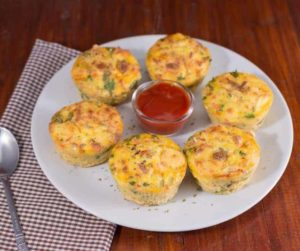 Air Fryer Sausage and Cheddar Egg Muffins