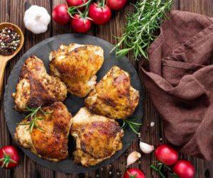 Air Fryer Pesto Chicken Thighs