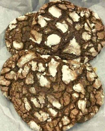Air Fryer Cake Mix Fudge Crinkle Cookies