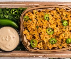 Air Fryer Cool Ranch Pasta Chips