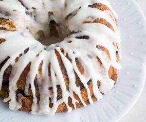 Air Fryer Lemon Blueberry Bundt Pound Cake