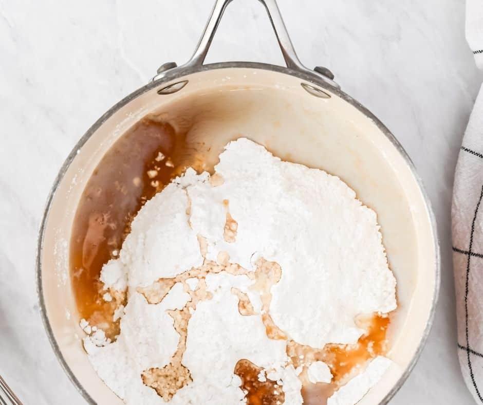 Maple Glaze in Saucepan