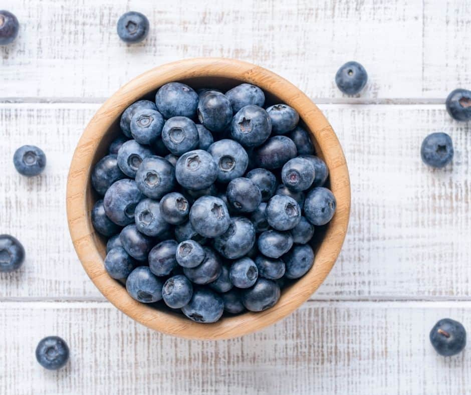 Ingredients Needed For Air Fryer Old-Fashioned Blueberry Crisp