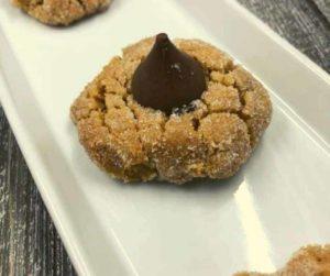 Air Fryer Peanut Butter Kiss Cookies