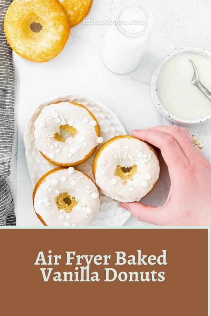 Air Fryer Baked Vanilla Donuts