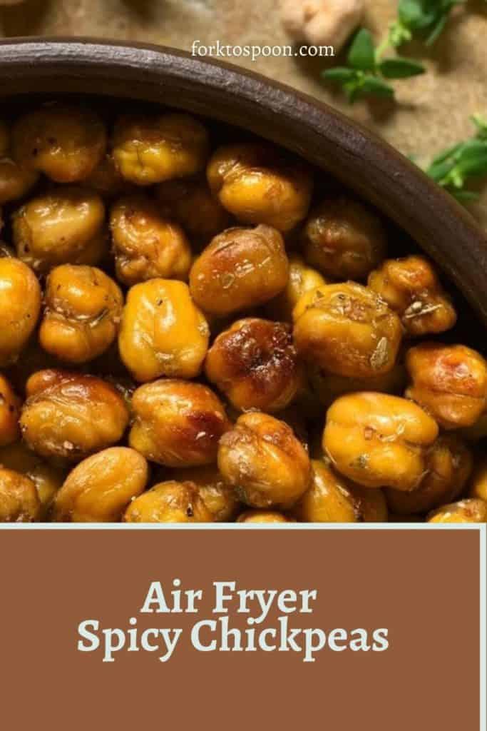 Air Fryer Spicy Chickpeas