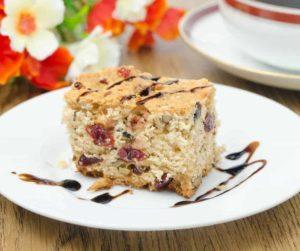 Air Fryer Cranberry and Walnut Bundt Cake