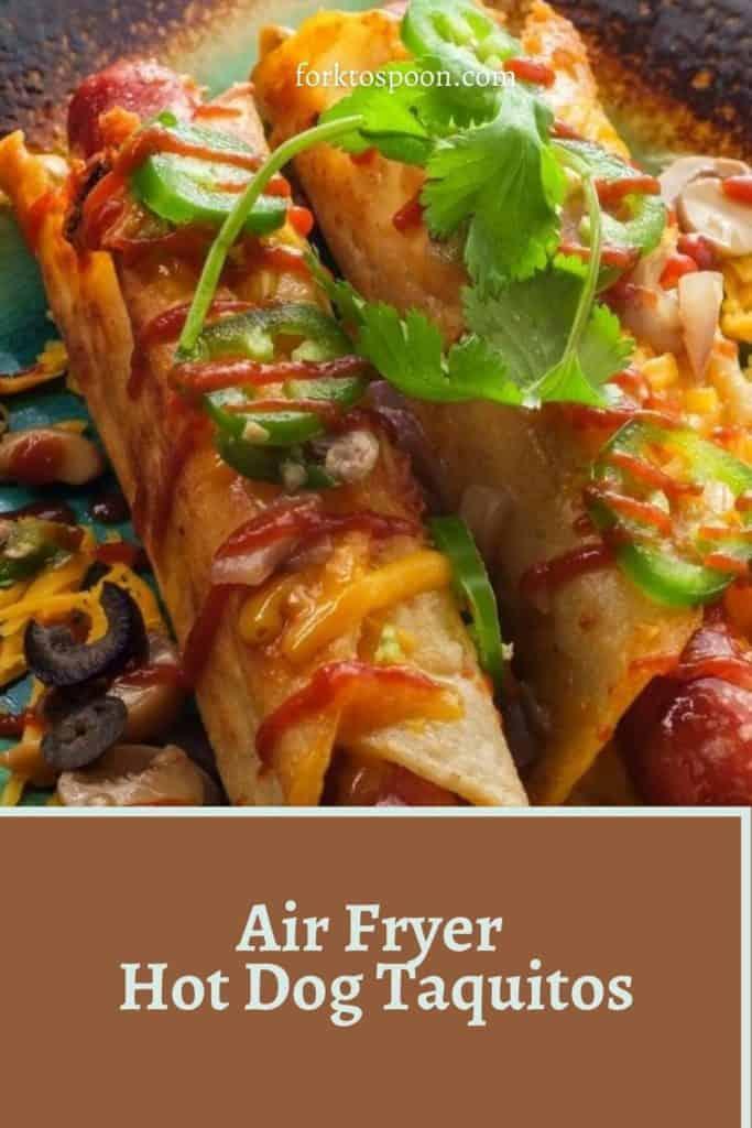 Air Fryer Hot Dog Taquitos