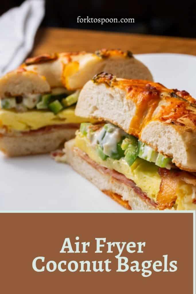Air Fryer Coconut Bagels