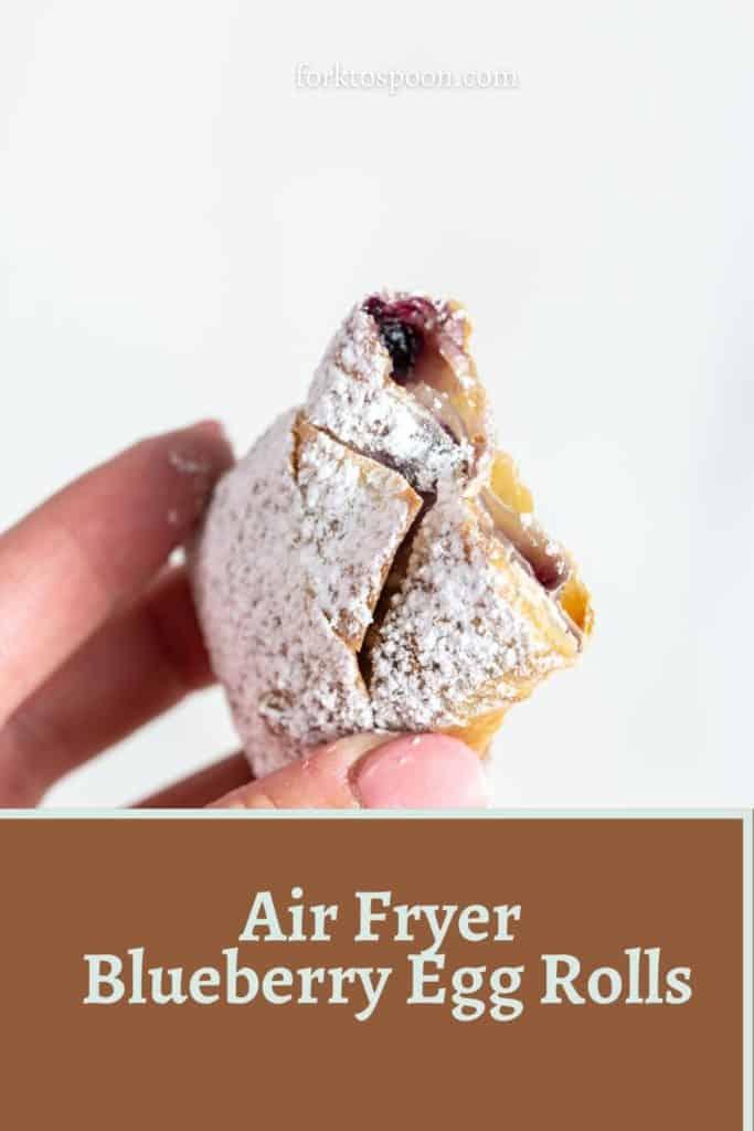 Air Fryer Blueberry Egg Rolls