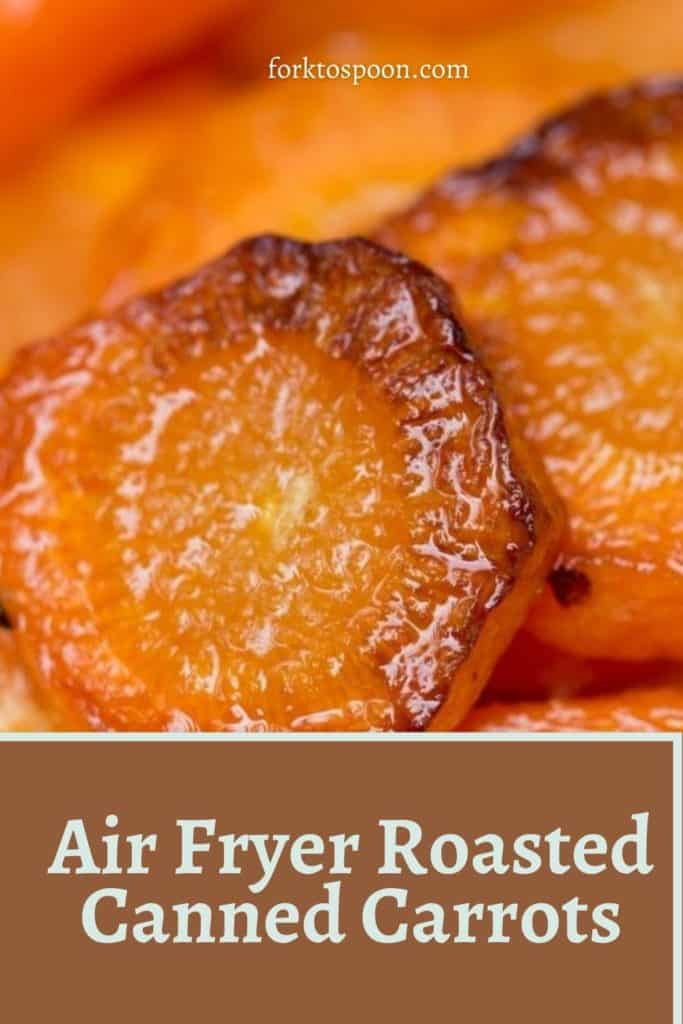 Air Fryer Roasted Canned Carrots