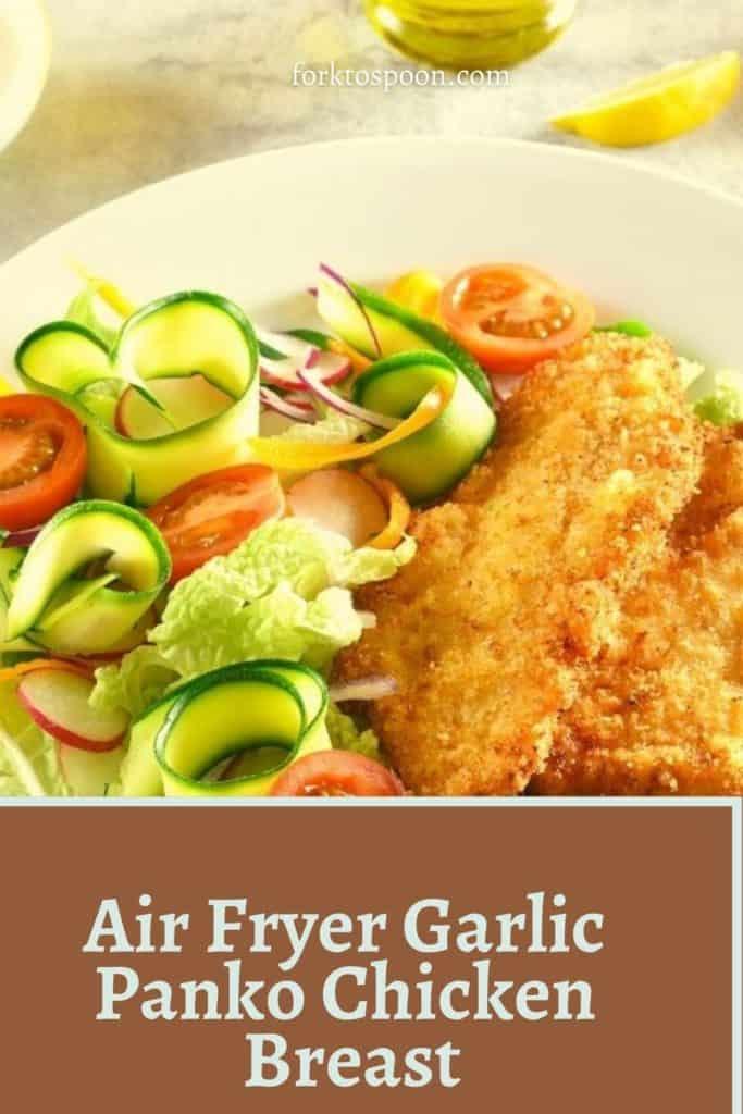 Air Fryer Garlic Panko Chicken Breast