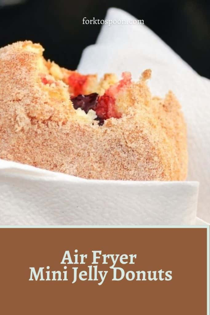 Air Fryer Mini Jelly Donuts
