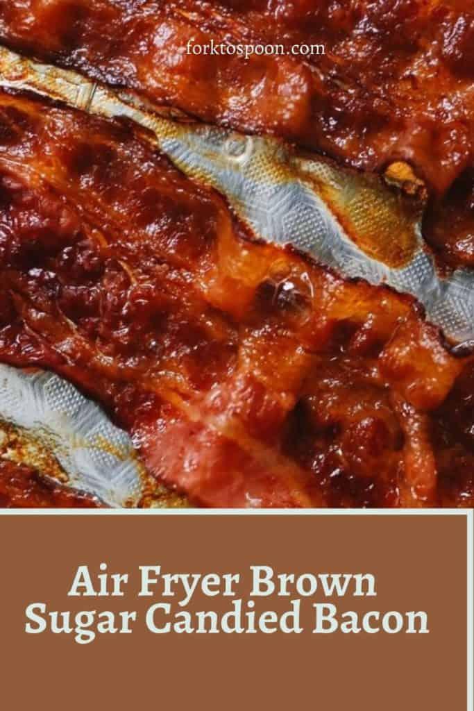 Air Fryer Brown Sugar Candied Bacon