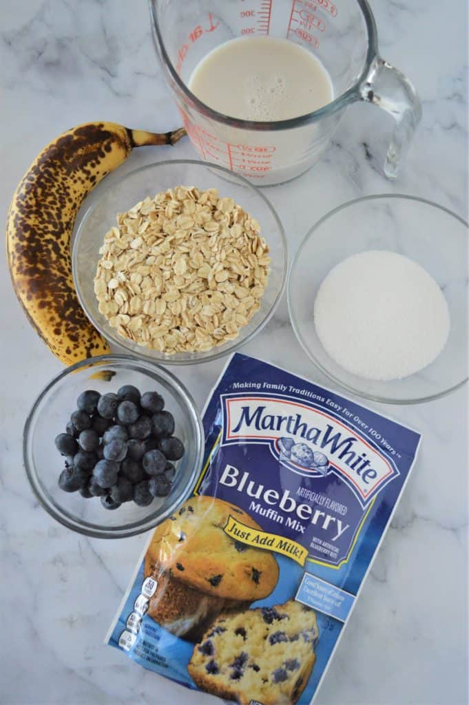 Ingredients Needed For Air Fryer Banana Blueberry Oat Muffins