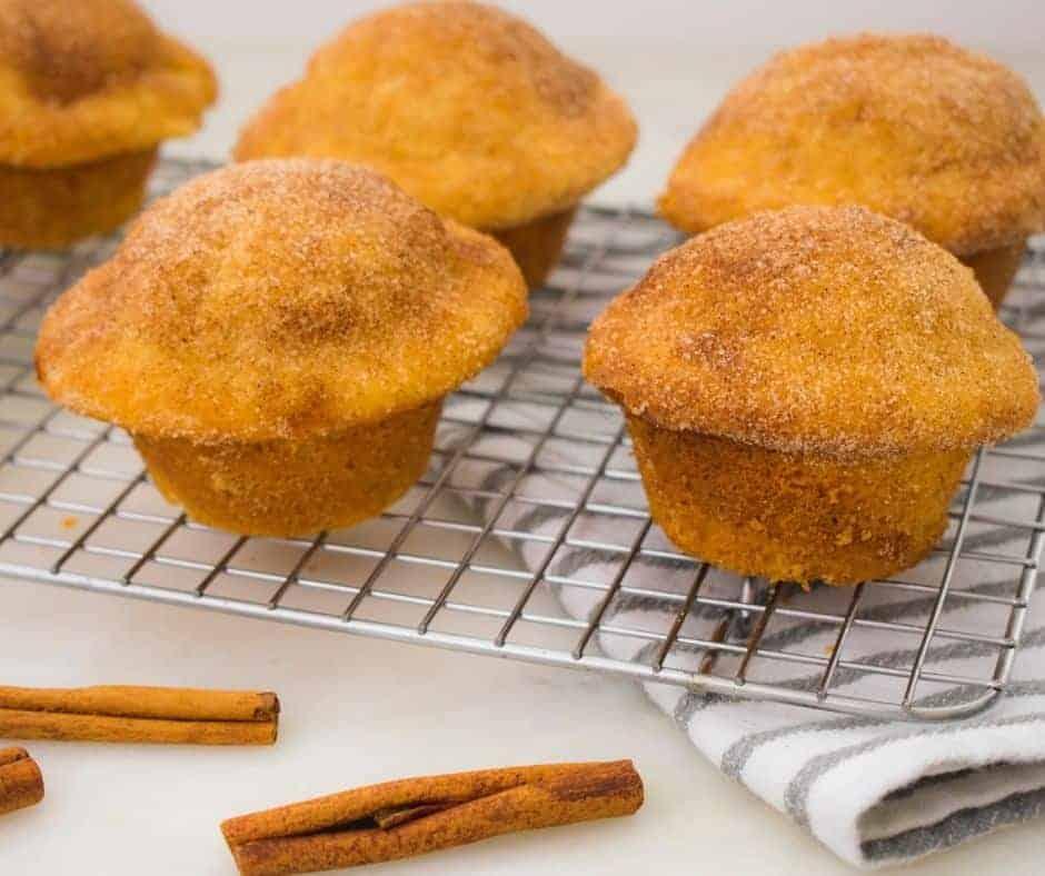 Air Fryer Cinnamon Sugar Muffins