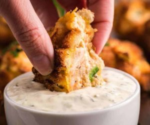 Air Fryer Fried Shrimp Hushpuppies