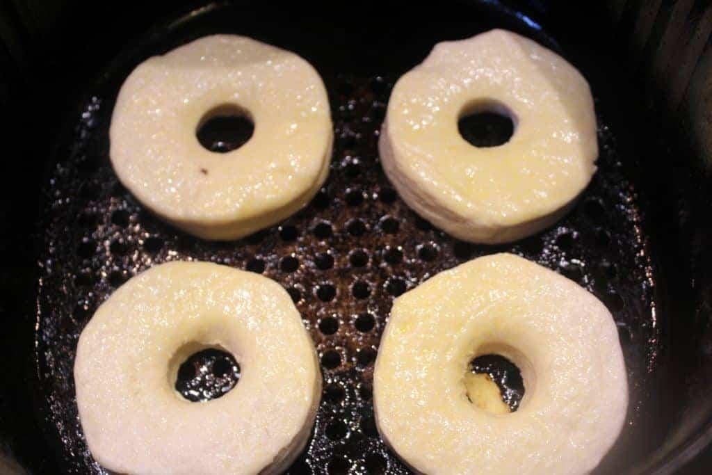 Air Fryer Nutella Donuts In Air Fryer Basket
