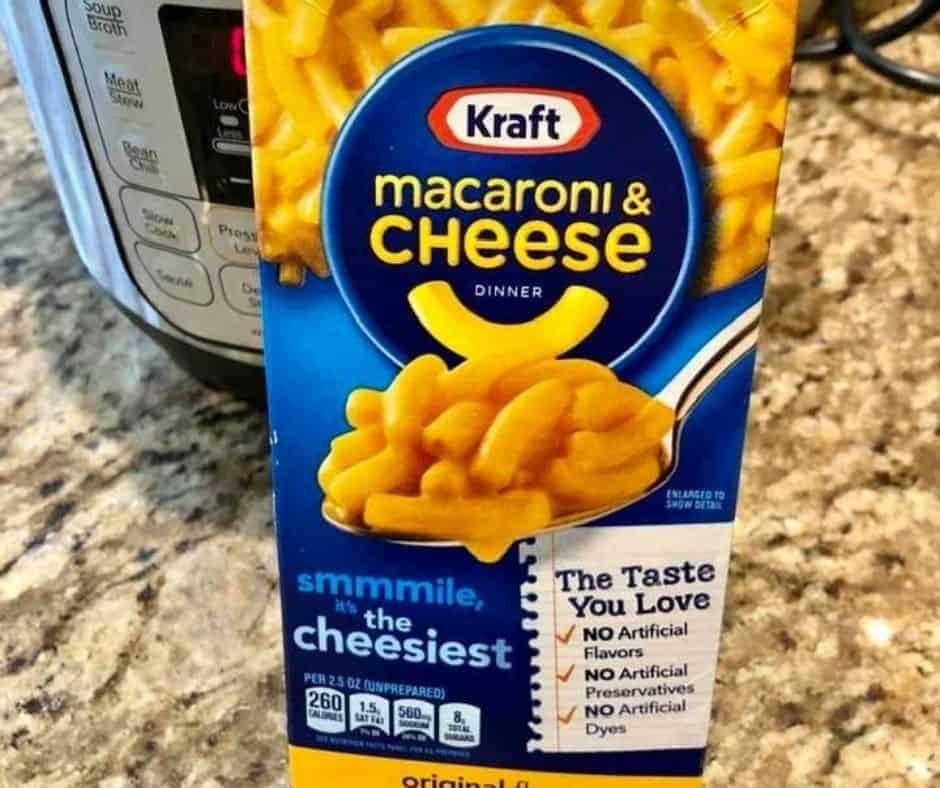 Ingredients Needed For Instant Pot Boxed Mac N Cheese