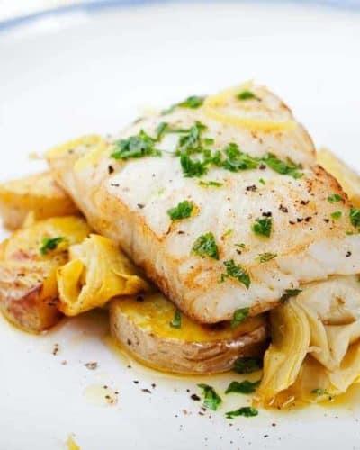 Air Fryer Cod With Creamy Mustard Sauce