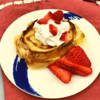 Air Fryer Strawberry Shortcake French Toast