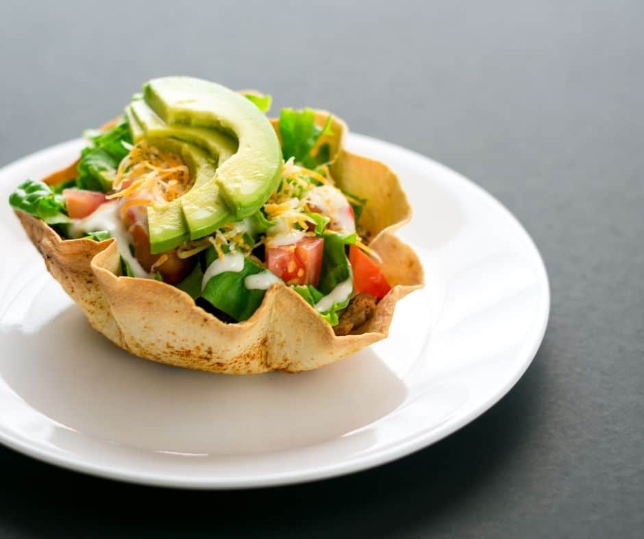 Air Fryer Taco Salad Bowls