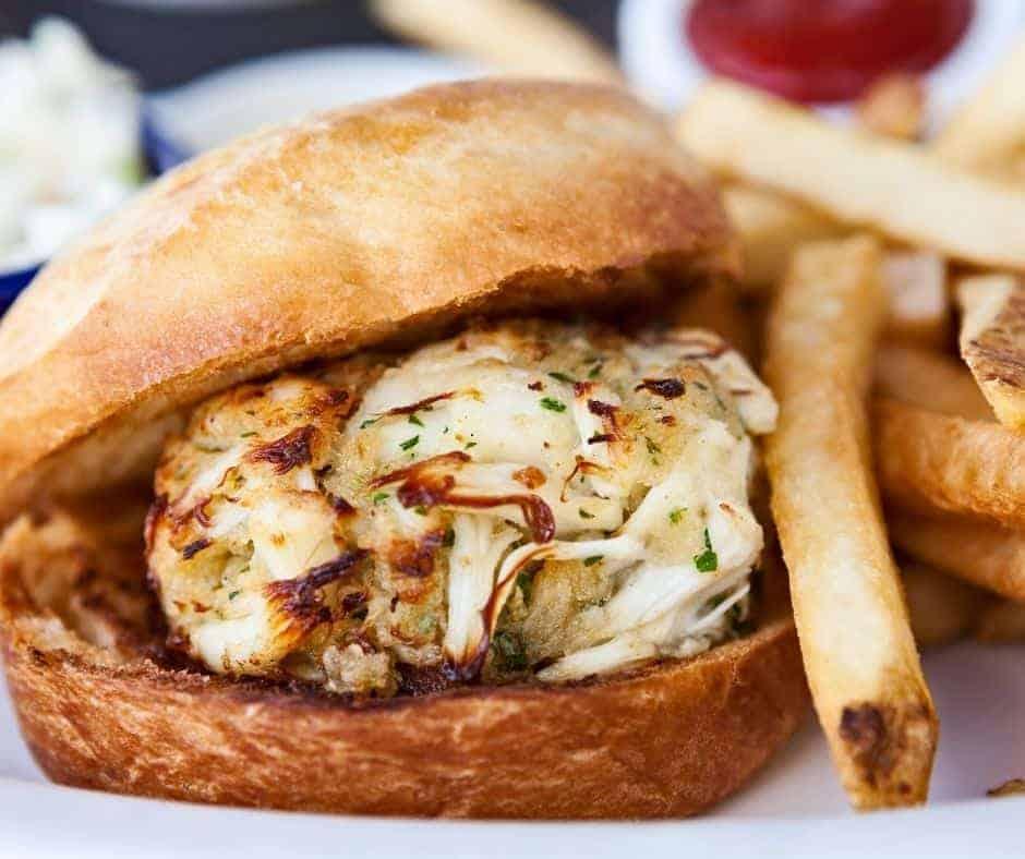 Air Fryer Crab Cake Sandwiches