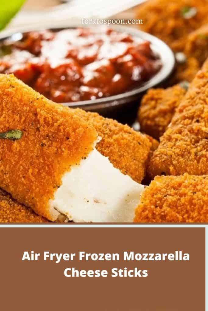 Air Fryer Frozen Mozzarella Cheese Sticks