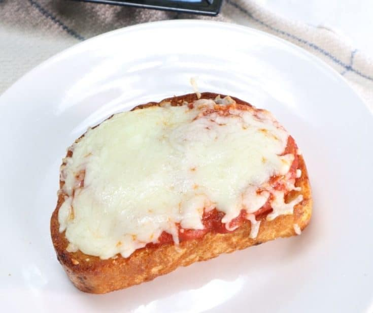 Air Fryer Garlic Bread Pizza Toast