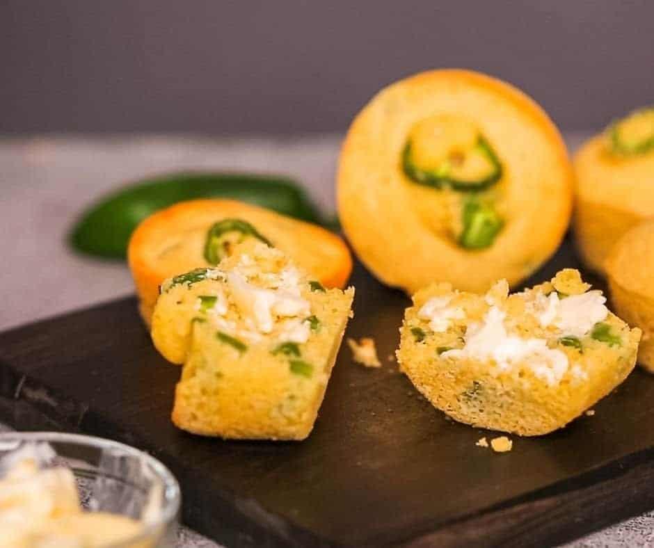 Air Fryer Jalapeno Corn Muffins
