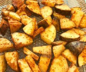 Air Fryer Maple BBQ Potatoes