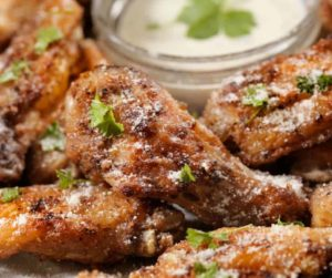 Air Fryer Garlic Parmesan Chicken Wings