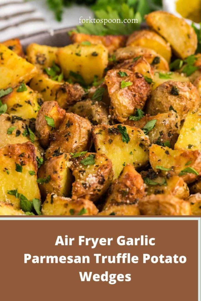 Air Fryer Garlic Parmesan Truffle Potato Wedges