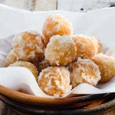 Air Fryer Zeppole Fried Dough Balls (From Pizza Dough)