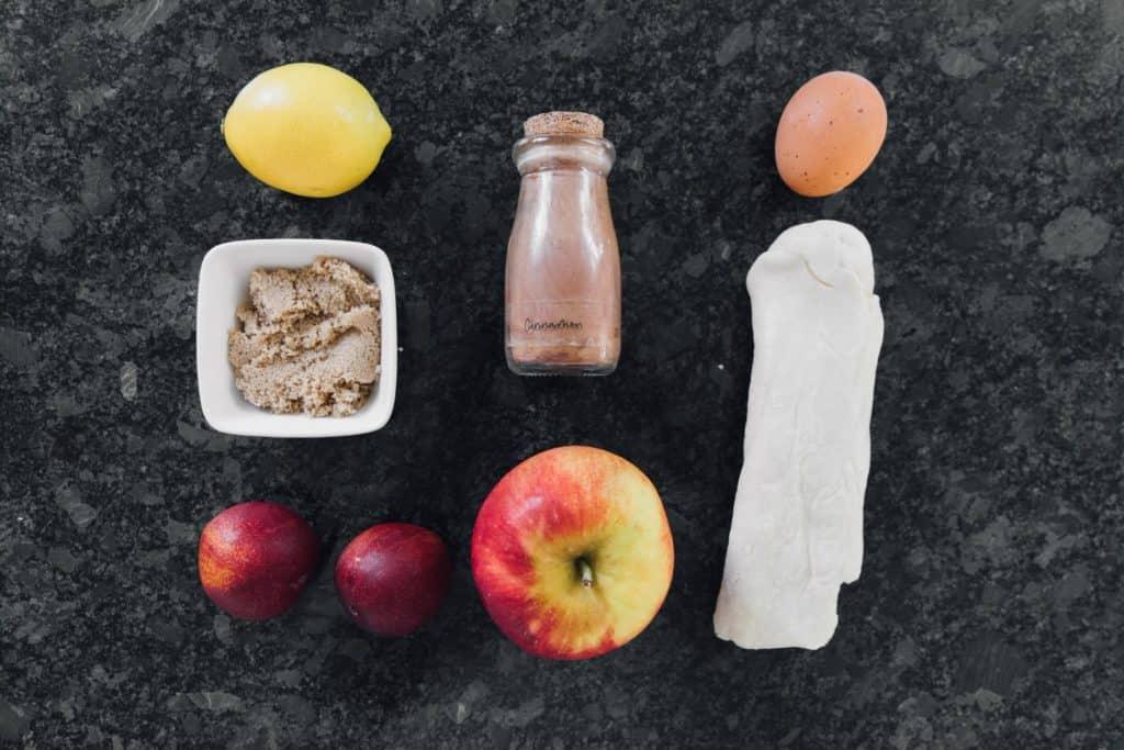 Ingredients Needed For Air Fryer Apple Plum Tarts