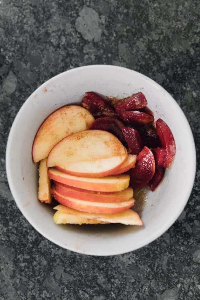 Coat The Fruit With Brown Sugar, Lemon Juice and Sugar
