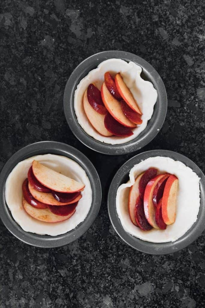 Air Fryer Apple Plum Tarts