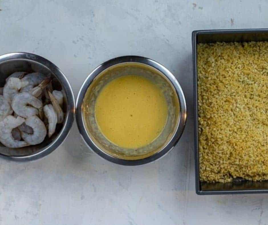 Breading Station Air Fryer Bang Bang Shrimp