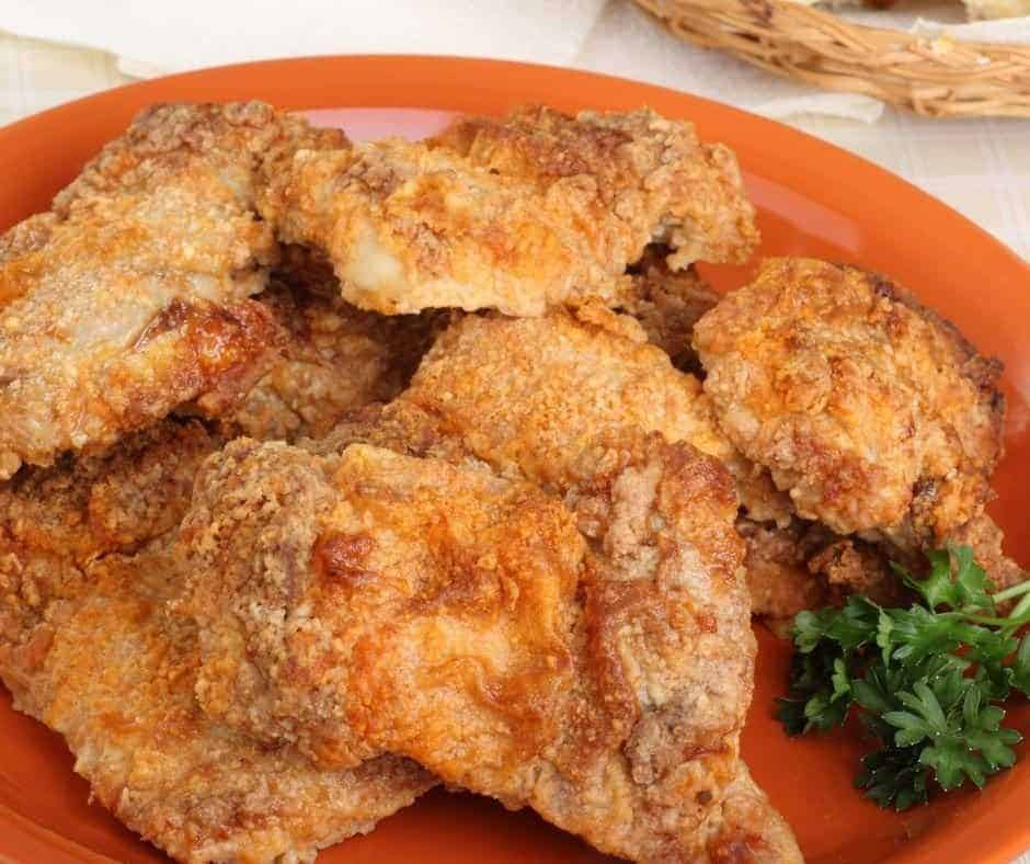 Breaded Chicken Thighs on Plate