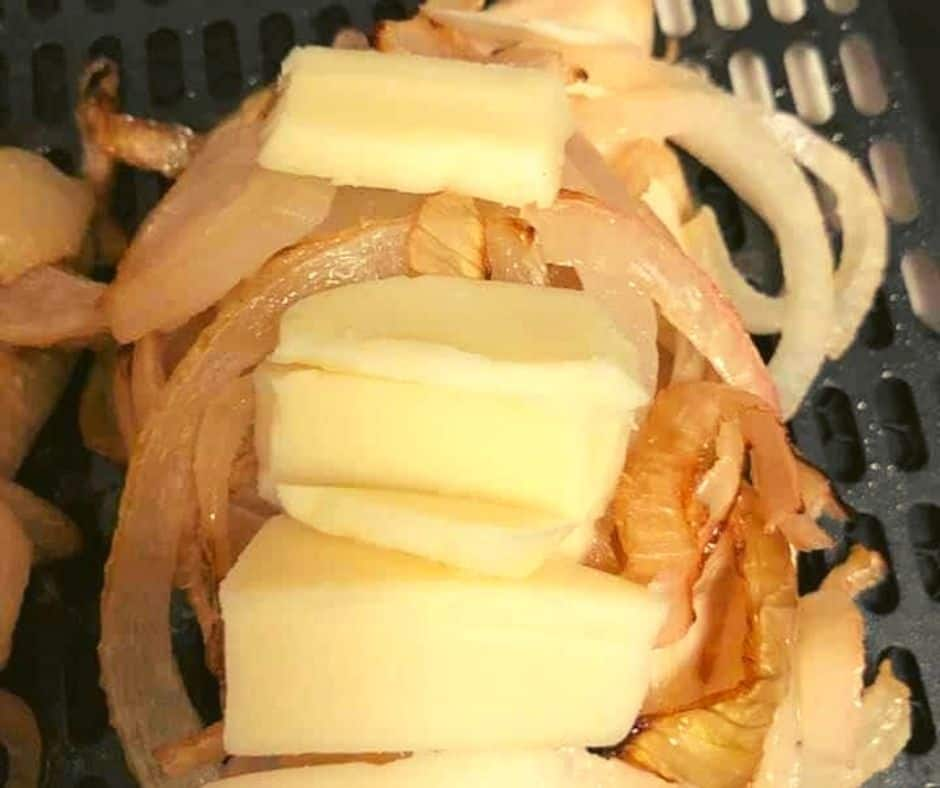 Air Fryer French Onion Chicken Breast With Fontina Cheese