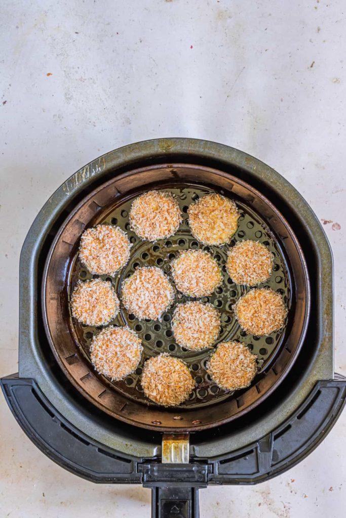 Air Fryer Parmesan Crusted Zucchini Crisps