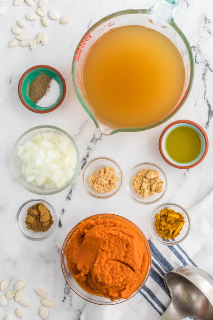 Ingredients Needed For Instant Pot Curried Pumpkin Soup